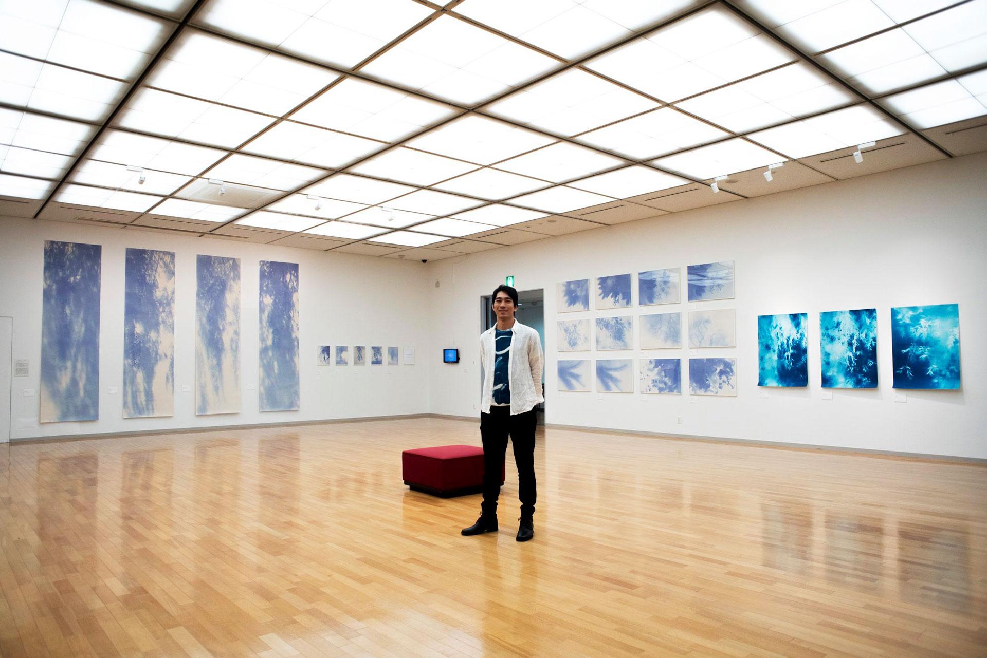 2019年広島での作品展の様子:はつかいち美術ギャラリーにて